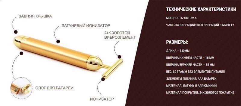 Характеристика массажера